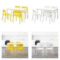 Jual Ikea MELLTORP/JANINGE meja dan 4 kursi wrn pth/kuning uk 125cm Murah