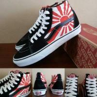 Sepatu Vans Sk8 High Motif Christian Hosoi Rising Sun Black - PREMIUM