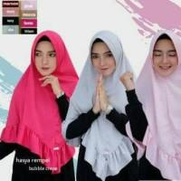 Jual hijab jilbab instan kerudung khimar pet antem SHABILA bubble crepe Murah