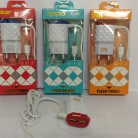CHARGER HANDPHONE DIAMOND 2 OUTPUT / CHARGER XIAOMI ASUS SAMSUNG OPPO