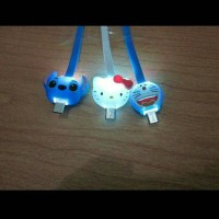 Jual kabel changer karakter hello kitty stitch Doraemon Murah