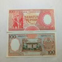 Jual Uang kuno atau uang lama 100 rupiah Pekerja tahun 1958 #xf Murah