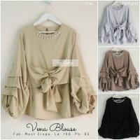 vena blouse / blouse lengan balon / baju atasan wanita / most crepe