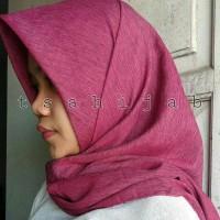 Jilbab / Hijab Segiempat Texture Polos / Rubiah / Organza Dot Helwa