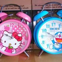 Jual Jam Weker Hello Kitty dan Doraemon (A-099YK) Murah