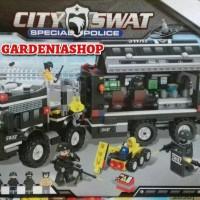 LEGO WINNER 1230 CITY SWAT SPECIAL POLICE TRUCK KOLEKSI KADO MAINAN MU