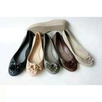 Jual jellyshoes flower / jelly shoes yumeida / sepatu kerja /flatshoes Murah