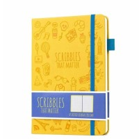 Jual Scribblesthatmatter Dotted A5 Journal Notebook Diary Iconic (Yellow) Murah