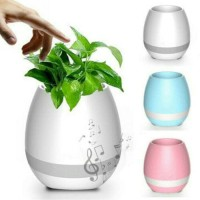 Jual Speaker Bluetooth Waterproof LED Flowerpot Touch Piano Music Murah