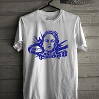 Jual Kaos /T-shirt Fast and Furious 8 Paul Walker Edition Murah