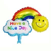 Balon Foil Have A Nice Day Mini / Balon Foil Smile Rainbow