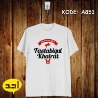 Fastabiqul Khairat | XXL | A-849 | Kaos Islami/Islam/Mu Murah