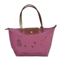 Authentic Longchamp Le Pliage Large Tote Bag Sangkar - Purple