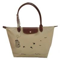 Authentic Longchamp Le Pliage Large Tote Bag Sangkar - Cream