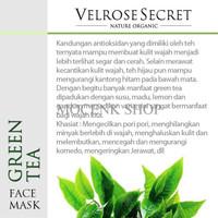 Jual Lulur Wajah BPOM Velrose Secret Nature Organic - GREEN TEA Murah