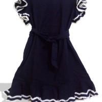 Jual OP4093 DRESS CASUAL FRILL 007 BLACK KODE Bimb4570 Murah