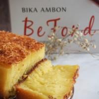 Jual Bika Ambon BeFond Original Topping Keju uk.10x20 cm Murah