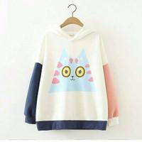 Jual MURAH Jaket sweater wanita / Baju korea murah : Big Eye Owl Murah