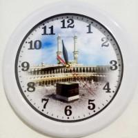 Jam Dinding Gambar Mekkah Ka'bah Islami Diameter 30 cm OGANA QUARTZ