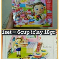 Jual 6pcs iclay cup 18gr per set, amos i-clay clay slime, mainan anak edu Murah
