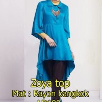 [Zoya Top Biru SW] dress wanita rayon bangkok biru