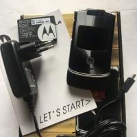 Motorola RAZR V3XX Jet Hitam Dual Camera - HP Jadul Original