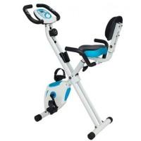 Sepeda Statis Lipat X Bike Biru Putih Sandaran COD Jogja Jabodetabek