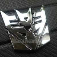 Jual Emblem Transformers Decepticon Chrome Diskon Murah