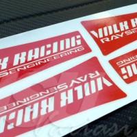 Sticker Decal Velg Volk Racing Diskon