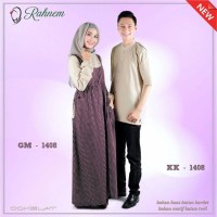Harga baju muslim couple rahnem 1408 baju couple murah katun | Pembandingharga.com