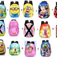 Jual Tas Anak Kartun / Tas Plastik / Tas Sekolah Frozen/Minion/Dora Murah