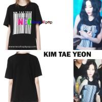 Jual Girls Generation Taeyeon Women's Black Barcode T-shirt Murah