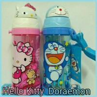 Jual botol minum 550ml karakter kepala hello Kitty Doraemon keropi micky Murah