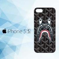 Casing Hardcase HP iPhone 5, 5s bape goyard black X5868