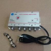 Boster Antena TV/Boster Spliter 4 way/Catv Signal Amplifier 4 Cabang