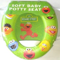 Jual Soft Baby Potty Seat With Handle Karakter Elmo - Toilet Training Murah