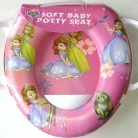 Jual Soft Baby Potty Seat With Handle Karakter Sofia - Toilet Training Murah