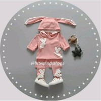 Jual Baju Anak HOODED BUNNY ATTACK BABY PinkK Murah