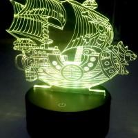 Jual Lampu Hias 3D LED One Piece Thousand Sunny Murah