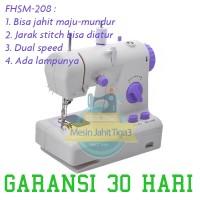 Jual Mesin Jahit Portable, Mesin Jahit Mini, Tipe FHSM-208, BERGARANSI Murah