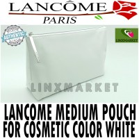 LANCOME MEDIUM POUCH FOR COSMETIC & MAKE-UP COLOR WHITE ORIGINAL