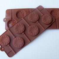 Jual Cetakan silikon coklat es puding silicone permen Lolipop unik 6 pcs Murah