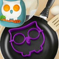 Jual Burung Hantu cetakan omelette telur owl shape silicone mold Murah