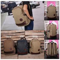 Jual BEST SELLER Tas Ransel Bodypack Kanvas Canvas Model Kombinasi A361 Murah