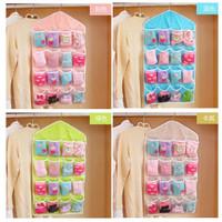 Jual PROMO Storage Bag Gantung 16 Kantong Hanger Organizer Underwear Pouch  Murah