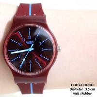 Jual PROMO Jam tangan wanita swatch tali karet grosir murah import fossil d Murah