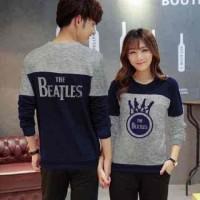 Jual [Cp Beatles Navy LT] baju couple babyterry navy Murah