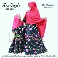 Jual Gamis Rose Couple Ibu dan Anak Original Naura Longdress Maxi Maxmara Murah