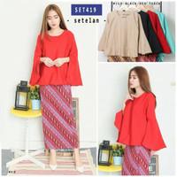 Jual Termurah SET419/stelan kebaya/kebaya kutubaru/baju muslim import/baju  Murah
