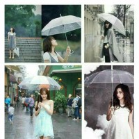 Jual Payung Transparan Bening umbrella transparant Korea Japan Best Quality Murah